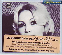 Betty Mars - Le Disque D'or De Betty Mars (France 1972 CD)