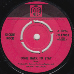 IMGDickie Rock - Come Back To stay